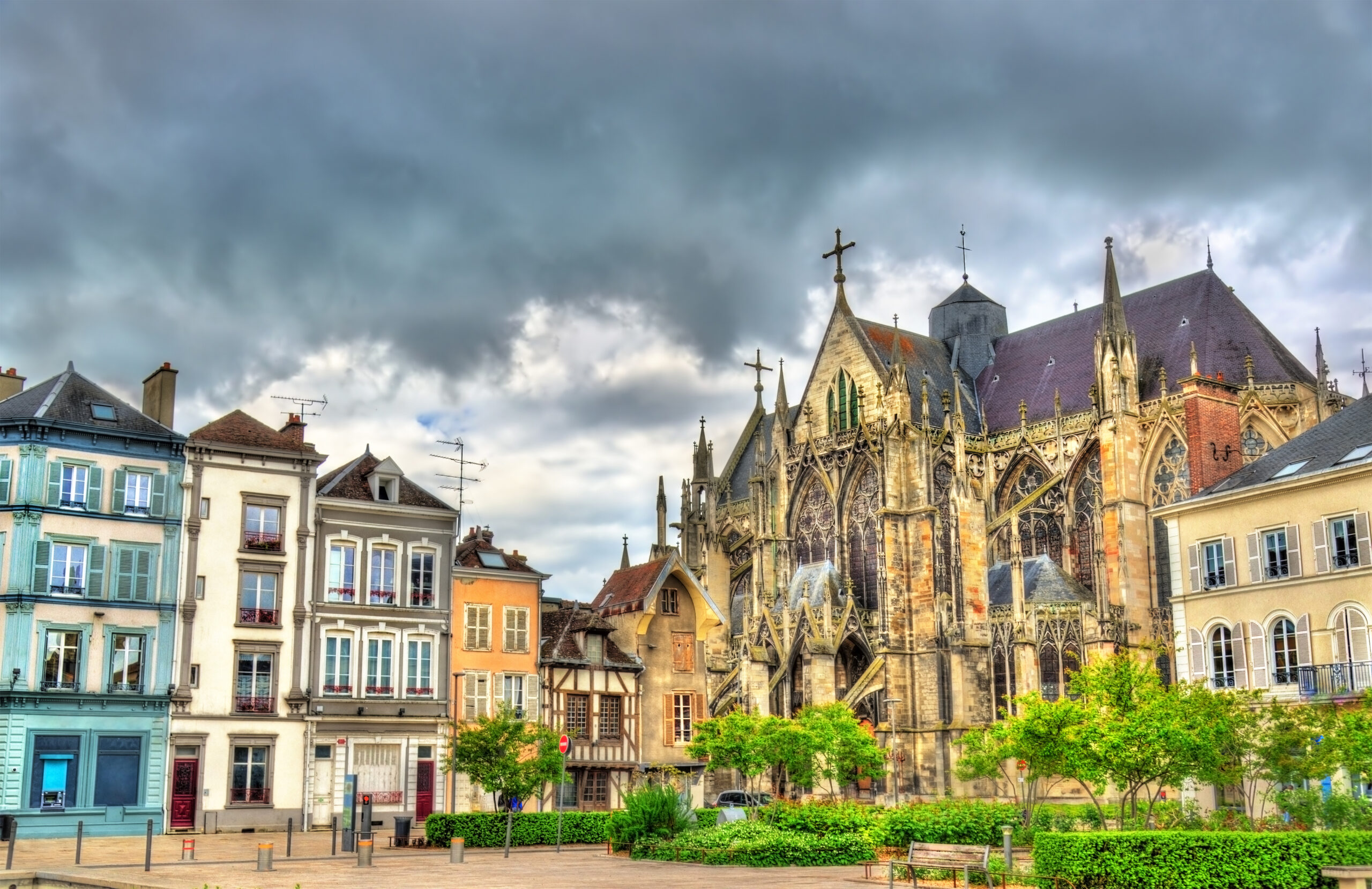 Gothic Basilica Saint Urbain of Troyes - France, Aube.