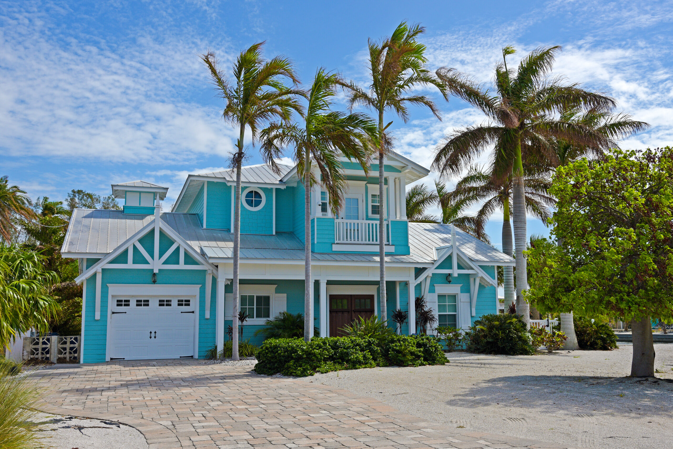 Staying in a vacation home is relatively low risk.