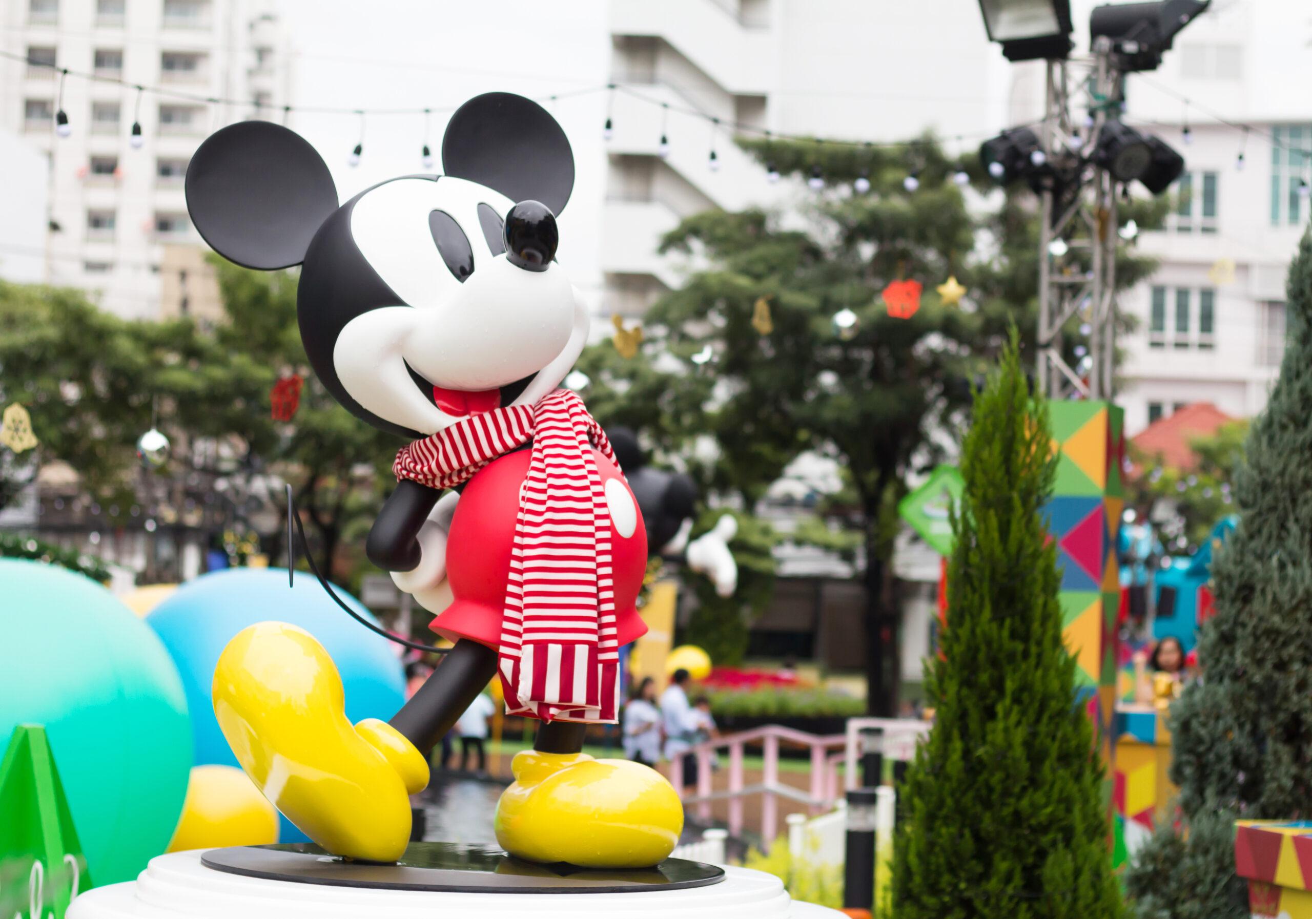 Mickey Mouse at Disney World Tokyo.