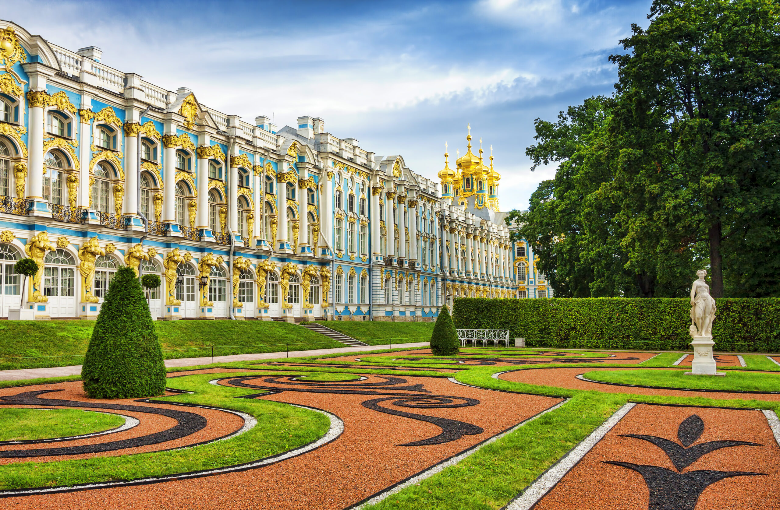 The Catherine Palace located in the town of Tsarskoye Selo (Pushkin), St. Petersburg, Russia.