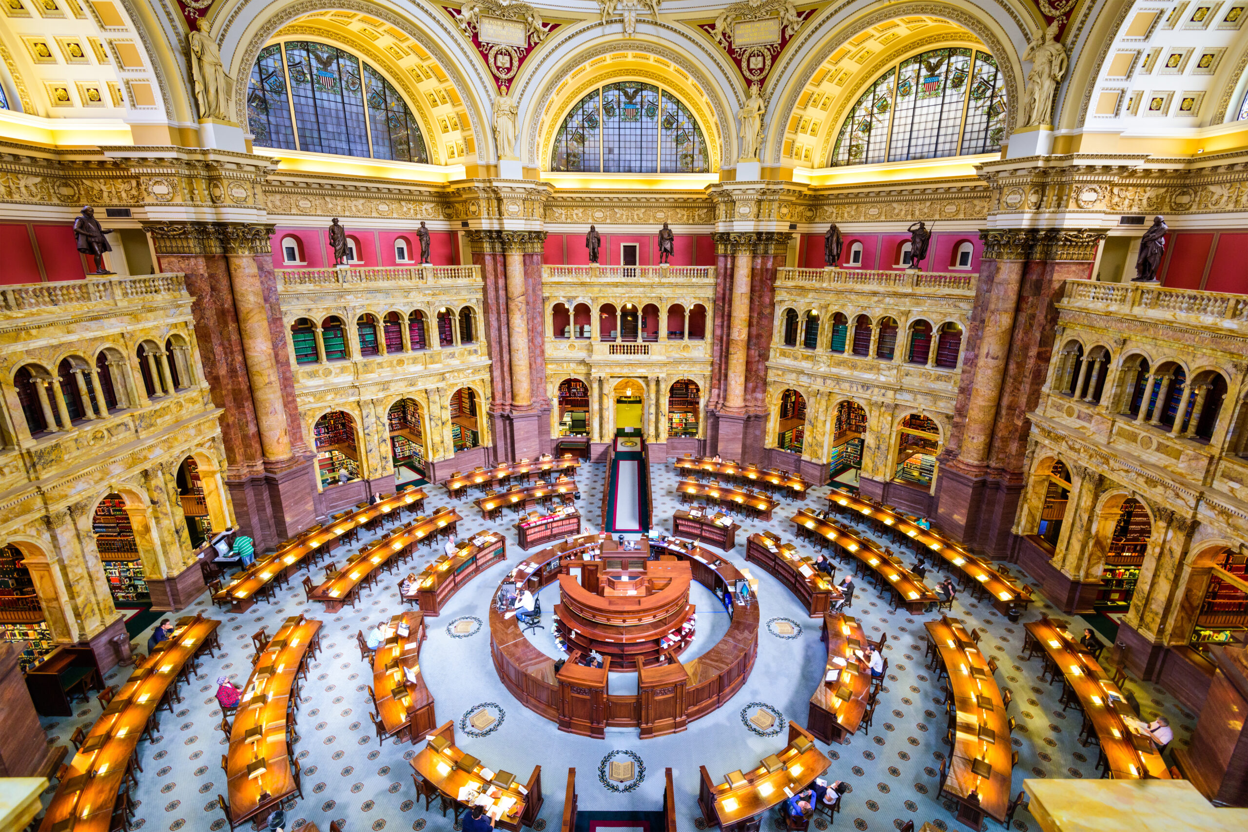 The Library of Congress in Washington, The library officially serves the U.S. Congress