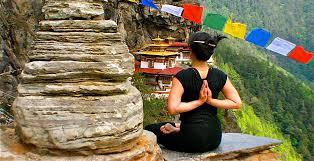 Meditation while taking wellness vacation in Bhutan