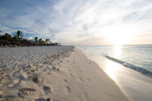 Sunset from Aruba beach