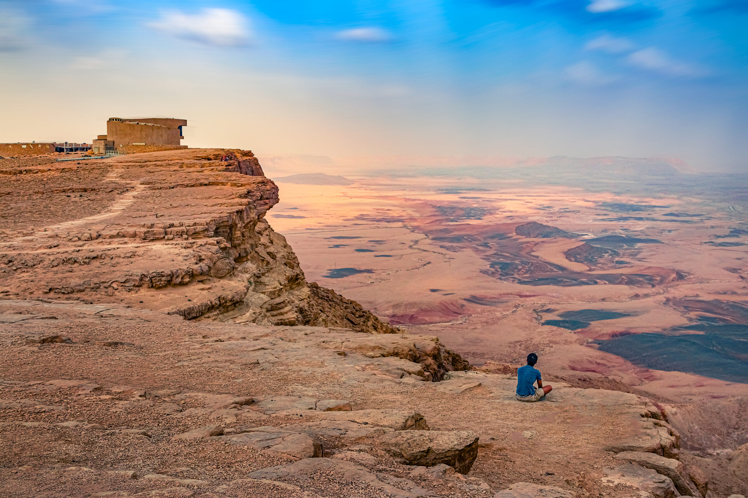 Ramon Crater in the Negev desert is the largest erosive crater in the world.
